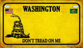 Washington Do Not Tread Wholesale Novelty Motorcycle Plate MP-8879