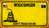 Wisconsin Do Not Tread Wholesale Novelty Motorcycle Plate MP-8881