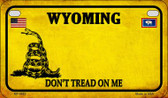 Wyoming Do Not Tread Wholesale Novelty Motorcycle Plate MP-8882