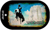 Wyoming Rusty Blank Background Wholesale Dog Tag Necklace DT-8167
