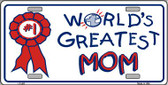 World's Greatest Mom Wholesale Metal Novelty License Plate LP-402
