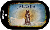 Alaska Bear Rusty Blank Background Wholesale Dog Tag Necklace DT-9512