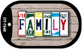 Family Plate Art Wholesale Dog Tag Necklace DT-7848