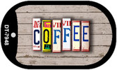 Coffee Plate Art Wholesale Dog Tag Necklace DT-7948