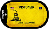 Wisconsin Do Not Tread Wholesale Dog Tag Necklace DT-8881