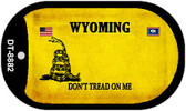 Wyoming Do Not Tread Wholesale Dog Tag Necklace DT-8882