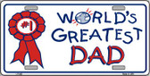 World's Greatest Dad Wholesale Metal Novelty License Plate LP-403