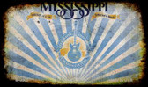 Mississippi Rusty Blank Background Wholesale Aluminum Magnet M-9505