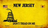 New Jersey Do Not Tread Wholesale Aluminum Magnet M-8862
