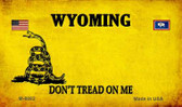 Wyoming Do Not Tread Wholesale Aluminum Magnet M-8882