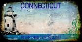 Connecticut Rusty Blank Background Wholesale Aluminum Key Chain KC-8170