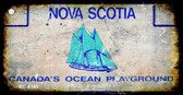 Nova Scotia Rusty Blank Background Wholesale Aluminum Key Chain KC-8181