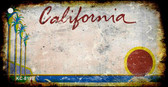 California Rusty Blank Background Wholesale Aluminum Key Chain KC-8198