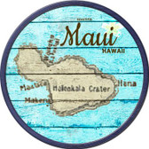 Maui Hawaii Map Wholesale Novelty Metal Circular Sign C-819