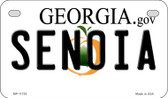 Senoia Georgia State Wholesale Novelty Motorcycle Plate MP-11725