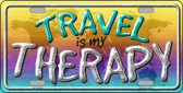 Travel Is My Therapy Wholesale Novelty License Plate LP-11732