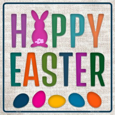 Happy Easter with Eggs Wholesale Novelty Square Sign SQ-323