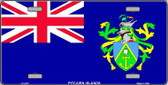Pitcairn Islands Flag Wholesale Metal Novelty License Plate LP-4127