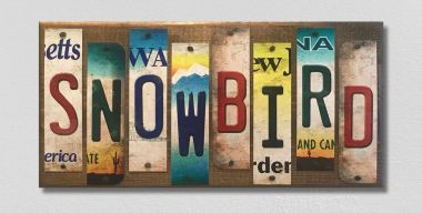 Snowbird License Plate Strip Wholesale Novelty Wood Sign WS-078