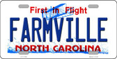 Farmville North Carolina Wholesale State License Plate LP-11746