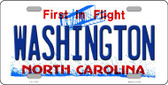 Washington North Carolina Wholesale State License Plate LP-11747