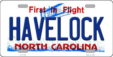 Havelock North Carolina Wholesale State License Plate LP-11750