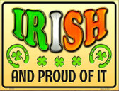 Irish and Proud Wholesale Novelty Parking Sign P-1770
