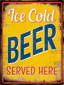 Ice Cold Beer Served Here Wholesale Novelty Parking Sign P-1784