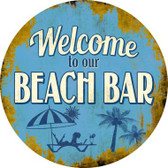Welcome to our Beach Bar Wholesale Novelty Metal Circular Sign C-846