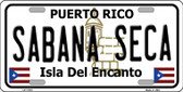 Sabana Seca Puerto Rico State Wholesale Novelty License Plate LP-11761