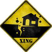 Earthquake Xing Novelty Wholesale Crossing Sign CX-315