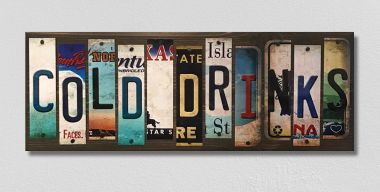 Cold Drinks License Plate Strips Wholesale Novelty Wood Sign WS-123