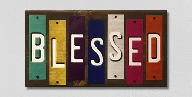 Blessed Fun Strips Wholesale Novelty Wood Sign WS-125