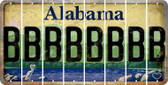 Alabama B Cut License Plate Strips (Set of 8) LPS-AL1-002