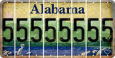 Alabama 5 Cut License Plate Strips (Set of 8) LPS-AL1-032