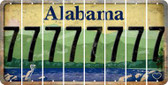 Alabama 7 Cut License Plate Strips (Set of 8) LPS-AL1-034