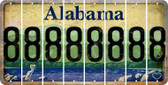 Alabama 8 Cut License Plate Strips (Set of 8) LPS-AL1-035