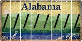 Alabama FORWARD SLASH Cut License Plate Strips (Set of 8) LPS-AL1-042