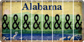 Alabama AMPERSAND Cut License Plate Strips (Set of 8) LPS-AL1-049