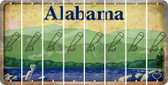 Alabama BASEBALL WITH BAT Cut License Plate Strips (Set of 8) LPS-AL1-057