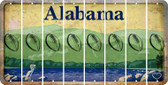 Alabama FOOTBALL Cut License Plate Strips (Set of 8) LPS-AL1-060