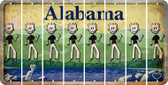 Alabama DAD Cut License Plate Strips (Set of 8) LPS-AL1-071