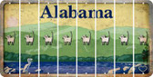 Alabama CAT Cut License Plate Strips (Set of 8) LPS-AL1-072