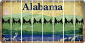 Alabama BAT Cut License Plate Strips (Set of 8) LPS-AL1-074