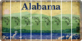 Alabama FISH Cut License Plate Strips (Set of 8) LPS-AL1-086