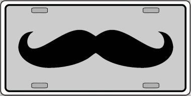 Mustache Novelty Wholesale Metal Novelty License Plate LP-4268
