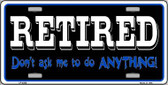 Retired Don't Ask Wholesale Metal Novelty License Plate LP-4280