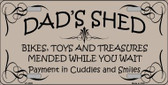 Dads Shed Wholesale Metal Novelty License Plate