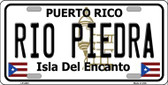 Rio Piedra Puerto Rico Wholesale Metal Novelty License Plate