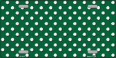 Green White Polka Dot Wholesale Metal Novelty License Plate